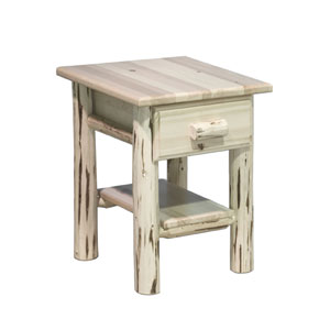 Montana Lacquered Nightstand w/ Drawer and Shelf