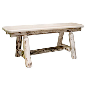 Montana Unfinished Plank Style Bench 45 Inch