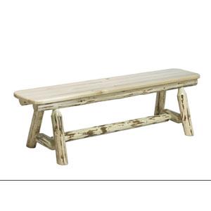 Montana Unfinished Plank Style Bench Six Feet