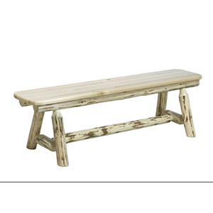 Montana Lacquered Plank Style Bench Six Ft.