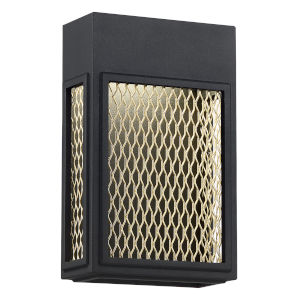 Metro Black And Gold 7-Inch Led Outdoor Wall Sconce