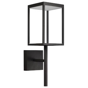 Reveal Black 7-Inch Led Outdoor Rectangular Wall Sconce With Clear Glass