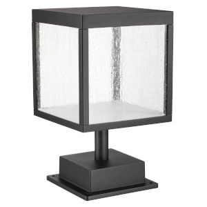 Reveal Black 7-Inch Led Outdoor Square Pier Mount