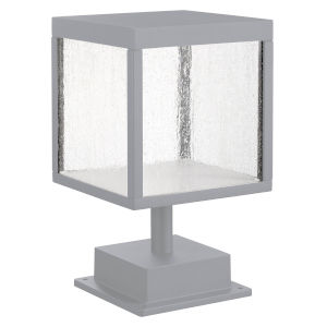 Reveal Satin Gray 7-Inch Led Outdoor Square Pier Mount
