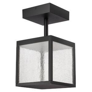 Reveal Black 7-Inch Led Outdoor Semi Flush Mount