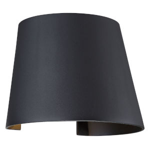 Cone Black Led Outdoor Wall Sconce