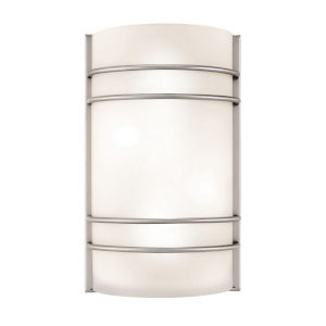 Artemis Brushed Steel 8-Inch Two-Light Led Wall Sconce