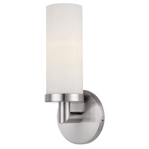 Aqueous Brushed Steel Led Wall Sconce
