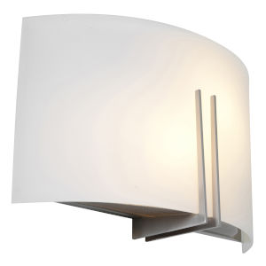 Prong Brushed Steel 12-Inch Two-Light Led Wall Sconce