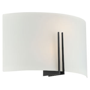Prong Matte Black 12-Inch Two-Light Wall Sconce