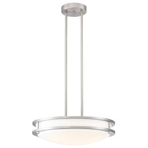 Solero Brushed Steel Led Pendant