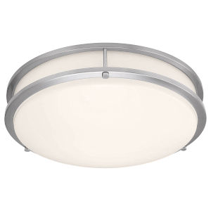Solero II Brushed Steel 12-Inch LED Flush Mount