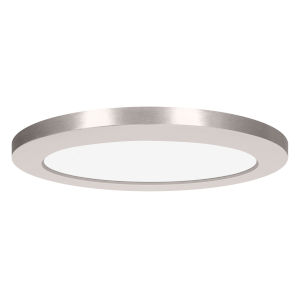 Modplus Brushed Steel 12-Inch Led Round Flush Mount