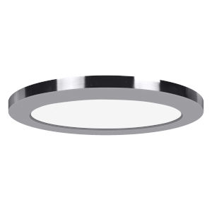 Modplus Chrome 12-Inch Led Round Flush Mount