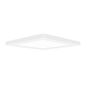Modplus White 9-Inch Led Square Flush Mount
