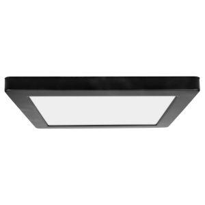 ModPLUS Black 12-Inch LED Square Flush Mount