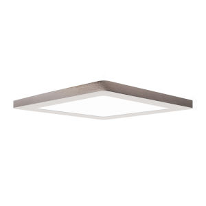 Modplus Brushed Steel 12-Inch Led Square Flush Mount