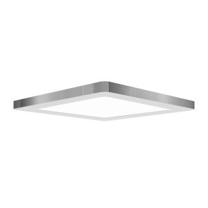 Modplus Chrome 12-Inch Led Square Flush Mount