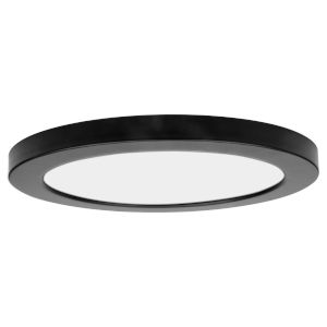 ModPLUS Black 12-Inch LED Dimmable Round Flush Mount