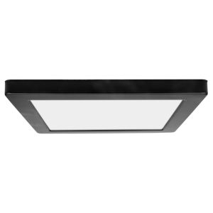 ModPLUS Black 12-Inch LED Dimmable Square Flush Mount