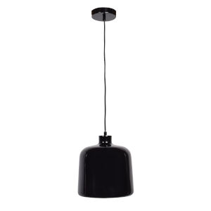 Nostalgia Shiny Black 10-Inch One-Light Pendant