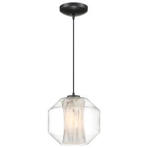 I-Biza Black One-Light Globe Mini Pendant