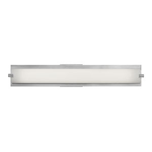 Geneva Brushed Steel Led Bath Bar