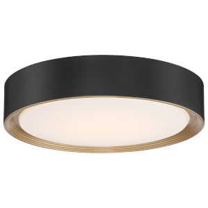 Malaga Matte Black 16-Inch LED Flush Mount
