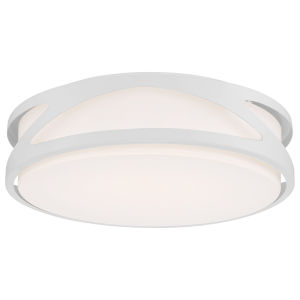 Lucia White 14-Inch LED Flush Mount