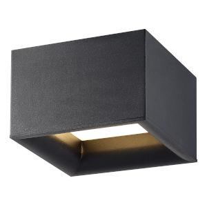 Bloc Black Led Flush Mount