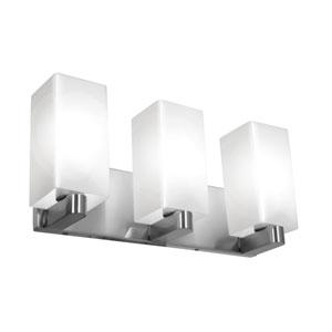 Archi Brushed Steel Three-Light LED ADA Bath Vanity