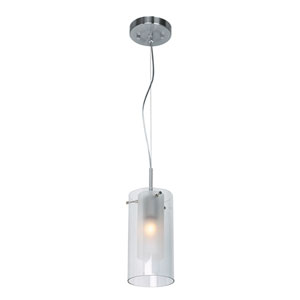 Proteus Brushed Steel One-Light LED Mini Pendant