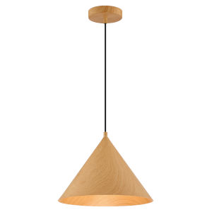 Timber Wood Grain 13-Inch Led Pendant