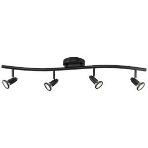 Cobra Black Four-Light Directional Spotlight