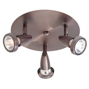Mirage Bronze Three-Light LED Semi-Flush Spotlight
