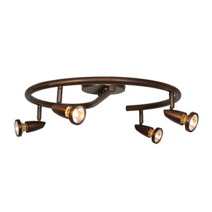 Mirage Bronze Four-Light LED Semi-Flush Spotlight