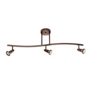 Mirage Bronze Three-Light LED Track Light