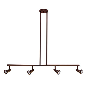 Mirage Bronze Four-Light LED Track Light