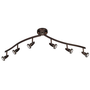 Mirage Bronze Six-Light LED Track Light