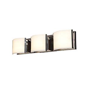 Nitro 2 Brushed Steel Three-Light LED ADA Bath Vanity