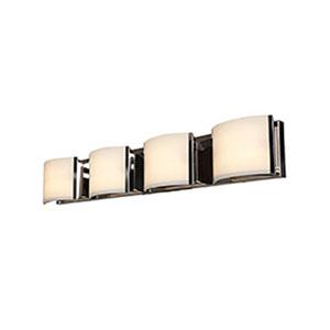 Nitro 2 Brushed Steel Four-Light LED ADA Bath Vanity