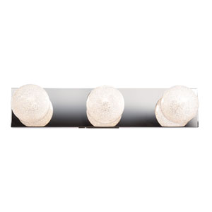 Opulence Mirrored Stainless Steel Three-Light LED Bath Vanity