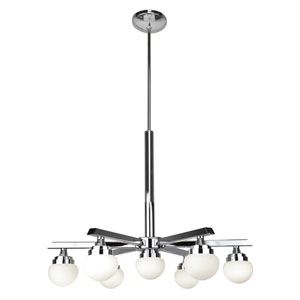 Classic Chrome Seven-Light LED Chandelier