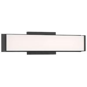 Citi Matte Black 30W LED Bath Vanity with Acrylic Lens Shade