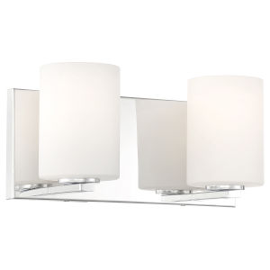 Oslo Chrome Two-Light LED Wall Sconce