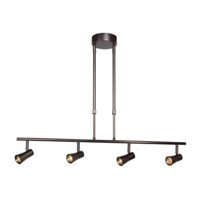 Sleek 33-Inch Bronze Four-Light LED Track Light