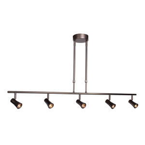 Sleek 43-Inch Bronze Five-Light LED Track Light