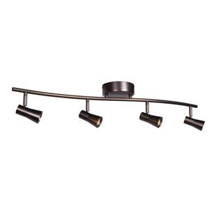 Sleek 33-Inch Bronze Four-Light LED Flush Mount Track Light