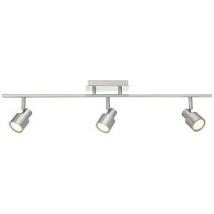 Lincoln Brushed Steel Three-Light LED Track Light
