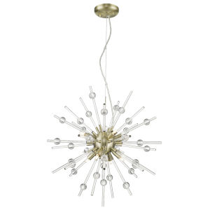 Burst Antique Bronze Eight-Light Led Pendant